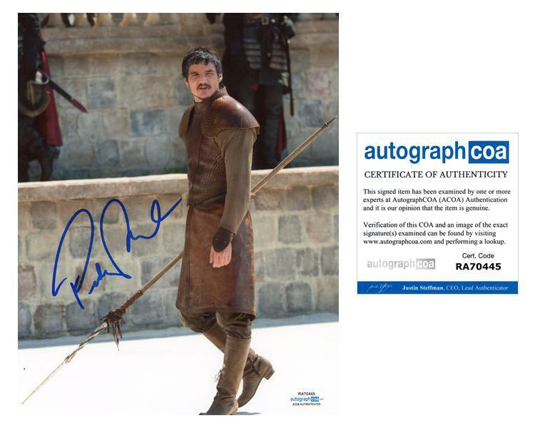 """Pedro Pascal """"Game of Thrones"""" AUTOGRAPH Signed 8x10 Photo F ACOA"""