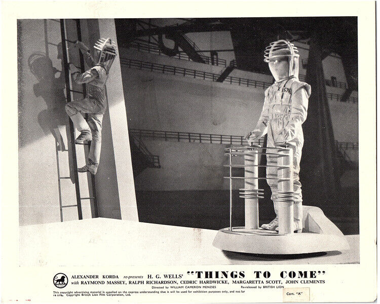 Things To Come Original British Front of House Lobby Card 1948 H.G. Wells Rare