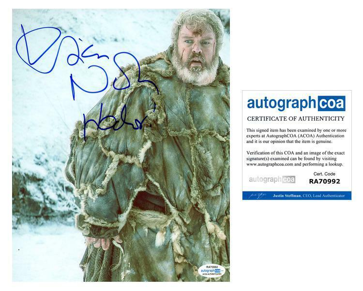 """Kristian Nairn """"Game of Thrones"""" AUTOGRAPH Signed 8x10 Photo ACOA"""