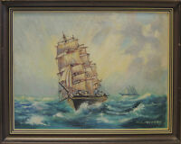 ART OIL PAINTING. YACHTS, SHIPS, BOATS.