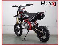 140cc race ready pitbike 'MotoX1' Reduced to clear...STOMP ENGINE! Not to be missed 16years+