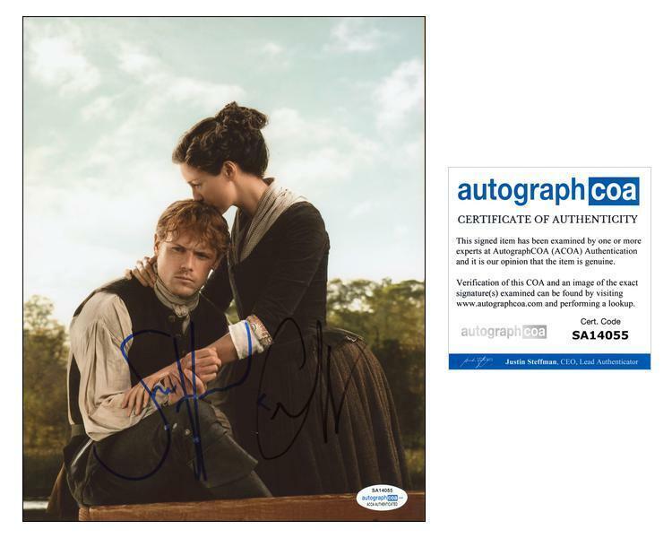 "Sam Heughan & Caitriona Balfe ""Outlander"" AUTOGRAPHS Signed 8x10 Photo C ACOA"