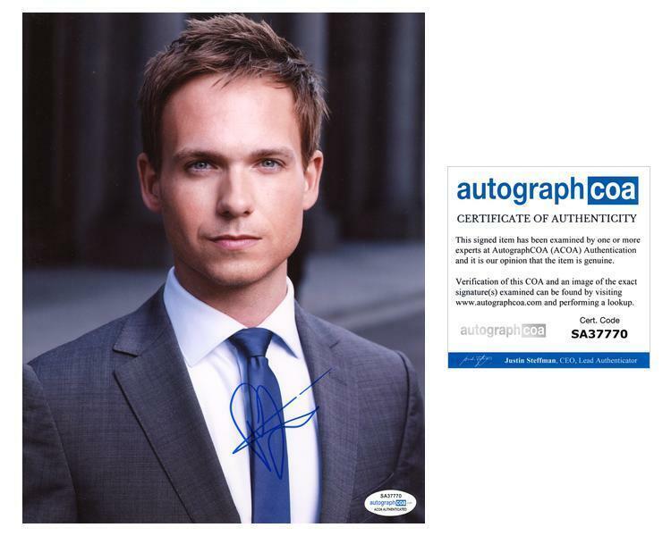 """Patrick J. Adams """"Suits"""" AUTOGRAPH Signed 'Mike Ross' 8x10 Photo C ACOA"""