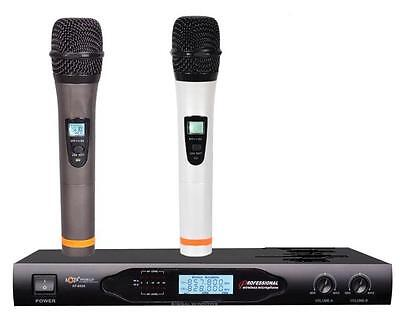 Sistema Profesional de Microfonos Inalámbricos con UHF At-8000
