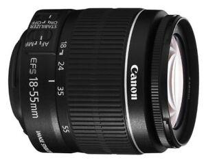 Lentille Zoom Canon EF-S 18-55mm F3.5-5.6 IS II T3i T4i T5i T6i