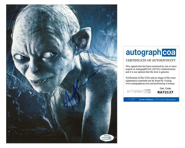 """Andy Serkis """"Lord of the Rings"""" AUTOGRAPH Signed 8x10 Photo B ACOA"""