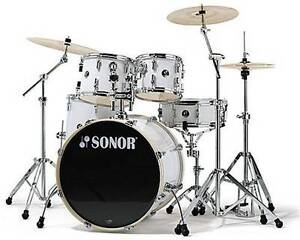 sonar -> Force 1007 Studio 1 5-Piece Drum Kit with Hardware - Wh