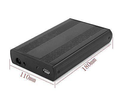 3.5 inch USB 3.0 Aluminum External SATA HDD Hard Drive Enclosure Case * Charger 106