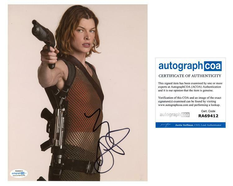 """Milla Jovovich """"Resident Evil"""" AUTOGRAPH Signed 8x10 Photo I ACOA"""