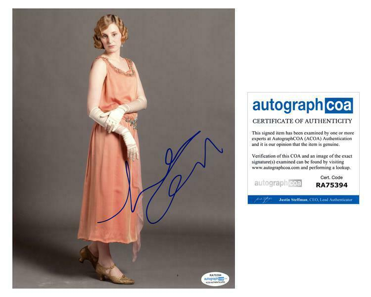 "Laura Carmichael ""Downton Abbey"" AUTOGRAPH Signed 8x10 Photo J ACOA"
