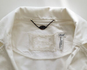 Guess White Blazer with lace and ribbon London Ontario image 4