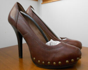 Brand new brown leather size 37 (size 6) shoes - Aldo