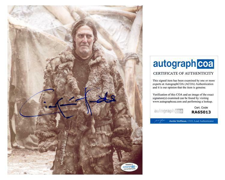 """Ciaran Hinds """"Game of Thrones"""" AUTOGRAPH Signed 8x10 Photo ACOA"""