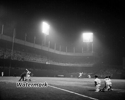 MLB 1954 New York Giants Night Game at Polo Grounds vs Dodgers 8 X 10 Photo Pic New York Giants Mlb