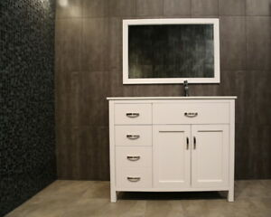⎷⎛Contemporary Bathroom Vanity & Cabinet Lunar Series LA42R