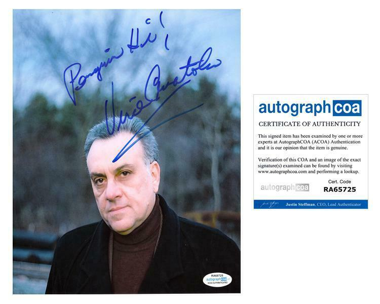 Sopranos Vince Curatola Autographed Signed 8x10 Photo ACOA