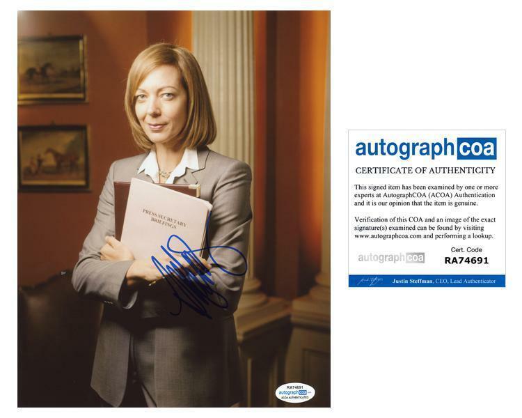 "Allison Janney ""The West Wing"" AUTOGRAPH Signed 8x10 Photo B ACOA"