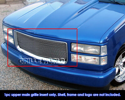 Fits 94-99 GMC Sierra C/K Pickup/Suburban/Yukon Billet Grille Insert