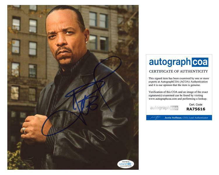 "Ice T ""Law & Order: SVU"" AUTOGRAPH Signed 8x10 Photo B ACOA"
