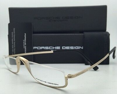 PORSCHE DESIGN Titanium Eyeglasses Half Eyes P'8002 A - Semi-Rimless Gold Frames