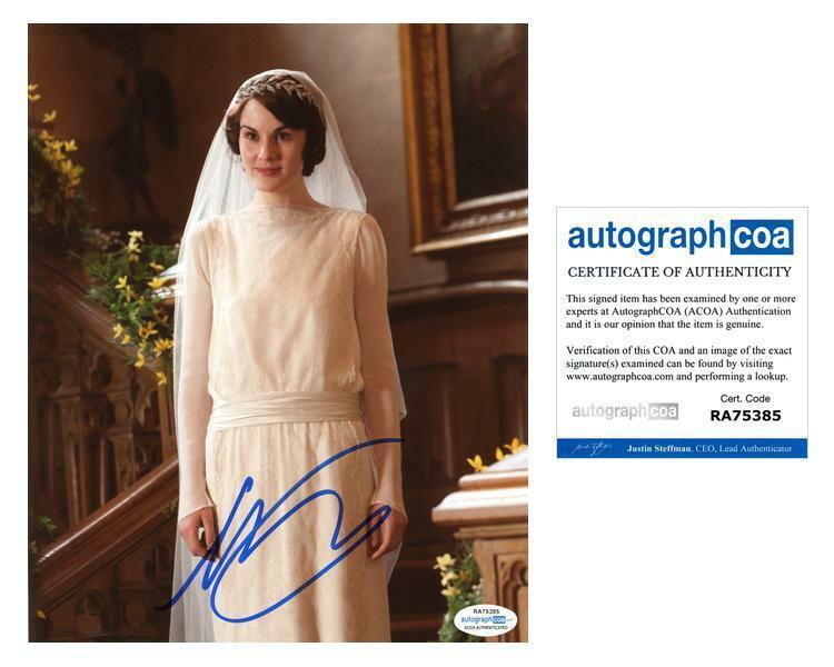 "Michelle Dockery ""Downton Abbey"" AUTOGRAPH Signed 8x10 Photo F ACOA"
