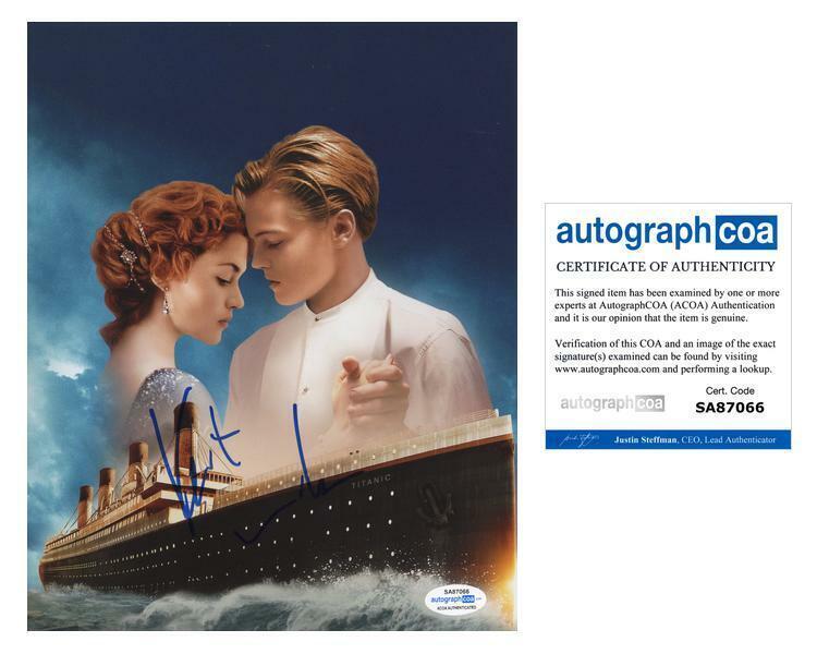 """Kate Winslet """"Titanic"""" AUTOGRAPH Signed 'Rose' 8x10 Photo ACOA"""