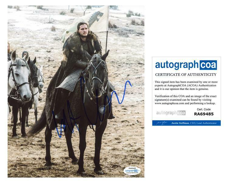 "Kit Harington ""Game of Thrones"" AUTOGRAPH Signed 8x10 Photo ACOA"