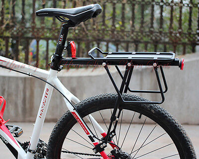 60kg! V Disc Brake Bicycle Bike Alloy Rear Rack Carrier Luggage Protect Pannier ()