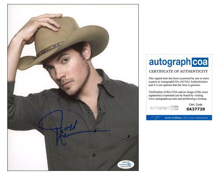 "Josh Henderson ""Dallas"" AUTOGRAPH Signed 'John Ross Ewing' 8x10 Photo D ACOA"