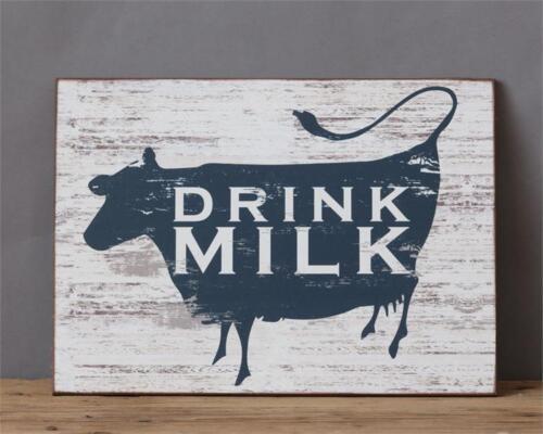 Farmhouse new wood Wall sign -DRINK MILK