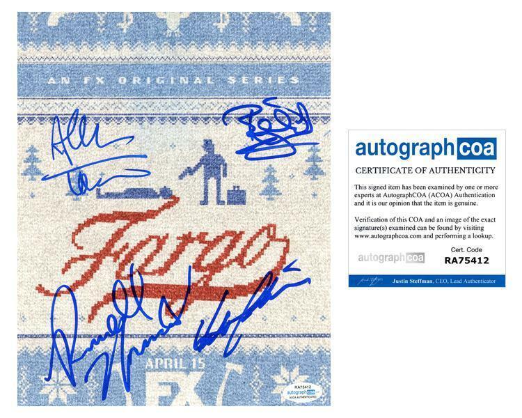 """Fargo"" Cast AUTOGRAPHS Signed 8x10 Photo - Billy Bob Thornton +3 ACOA"