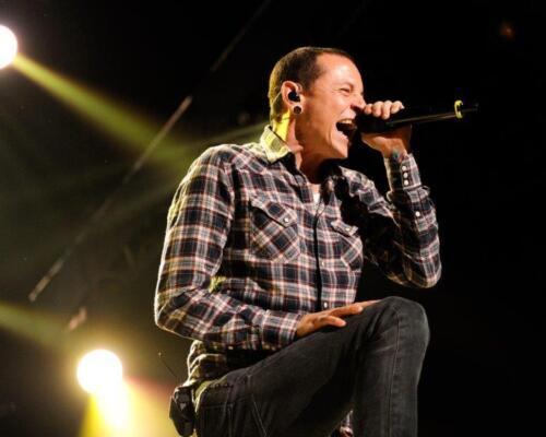 CHESTER BENNINGTON Linkin Park Live 8 x 10 Glossy Photo Print