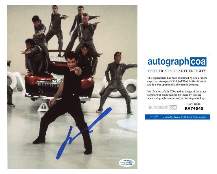 """John Travolta """"Grease"""" AUTOGRAPH Signed 8x10 Photo ACOA"""