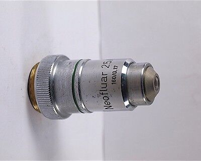 Zeiss Neofluar 25x 0.60 Rms 160mm Tl Microscope Objective