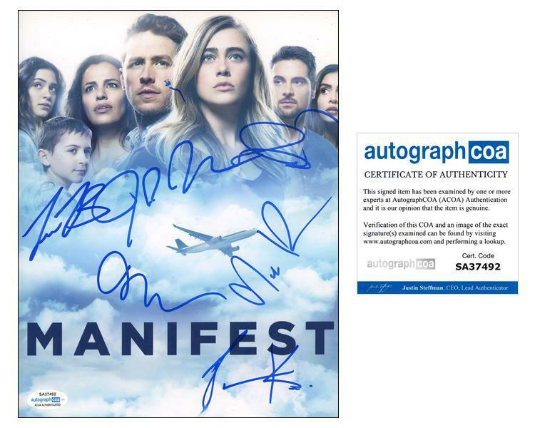 """Manifest"" Cast AUTOGRAPHS Signed 8x10 Photo - Josh Dallas, Melissa Roxburgh +4"