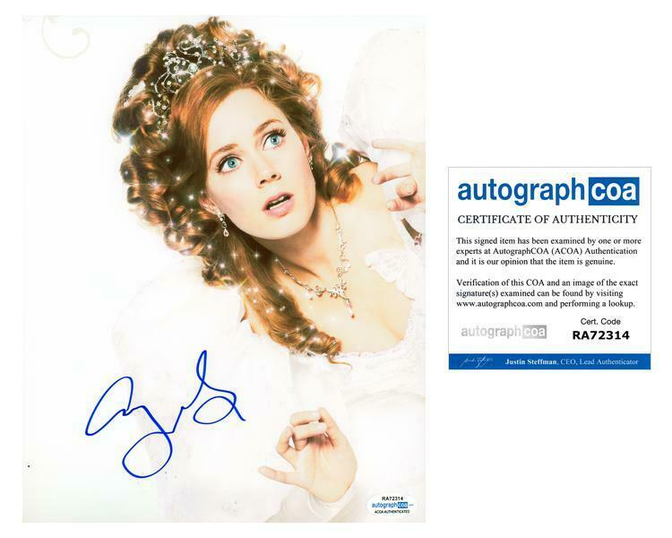 "Amy Adams ""Enchanted"" AUTOGRAPH Signed 8x10 Photo ACOA"