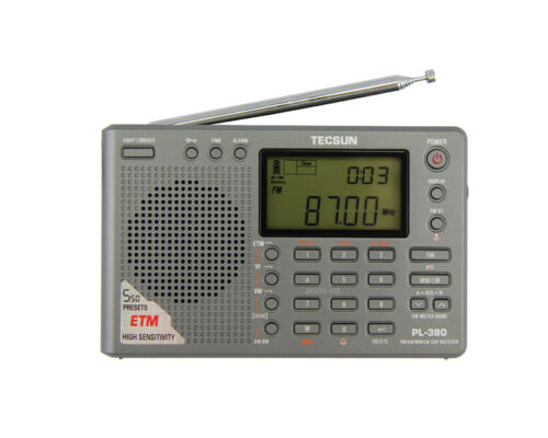 Used Tecsun PL380 DSP AM FM Shortwave LW PLL Radio Receiver PL-380 Gray