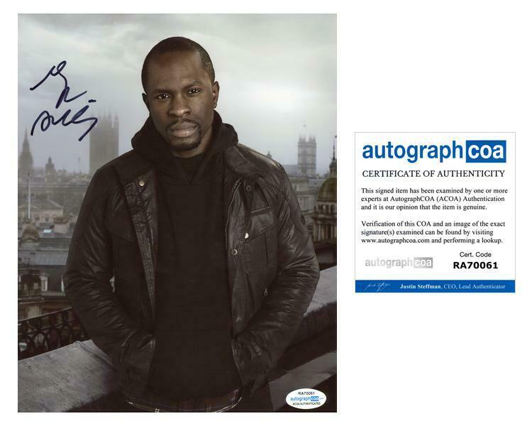 """Gbenga Akinnagbe """"24: Live Another Day"""" AUTOGRAPH Signed 8x10 Photo C ACOA"""