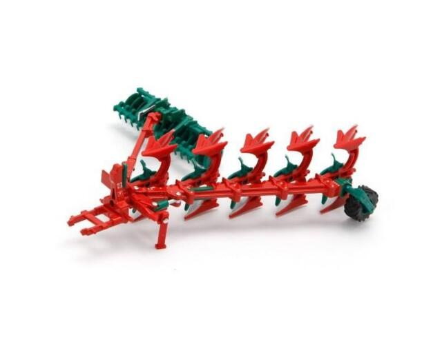 Britains 43049 Kverneland Plough And Packomat 1:32 Scale Childrens Toy - New