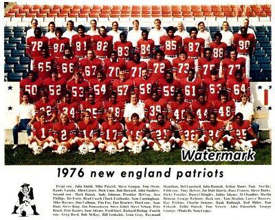 NFL 1976 New England Patriots Color Team Picture 8 X 10 Photo Picture - Patriots Team Photo
