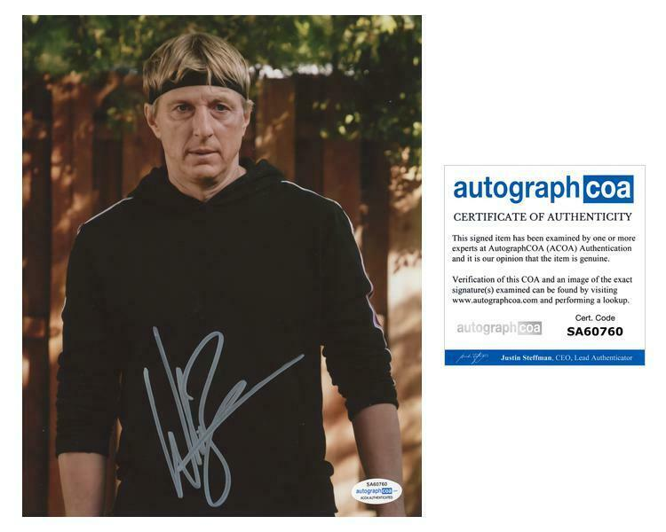 "William Zabka ""Cobra Kai"" AUTOGRAPH Signed 'Johnny Lawrence' 8x10 Photo ACOA"