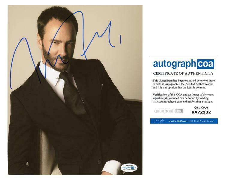 Tom Ford AUTOGRAPH Signed 8x10 Photo D ACOA