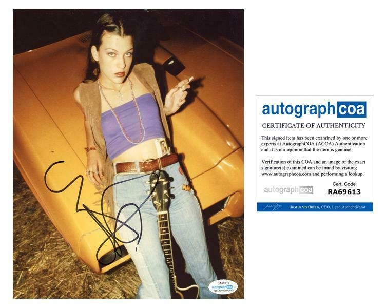 "Milla Jovovich ""Dazed & Confused"" AUTOGRAPH Signed 8x10 Photo ACOA"