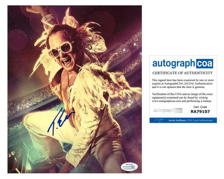 "Taron Egerton ""Rocketman"" AUTOGRAPH Signed 8x10 Photo D ACOA"