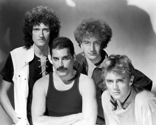 QUEEN Band w/ Freddie Mercury 8 x 10 Glossy Poster Print