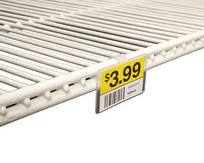 Label Holder for Double Wire Freezer Cooler & Fridge Shelf, 2.25 x 1.25, 50 -
