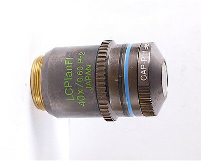 Olympus Lcplanfl 40x .60 Ph2 Fluorite Phase Contrast Microscope Objective