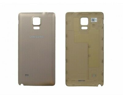 Tapa Trasera Original Para Samsung Galaxy Note 4 Dorado Dorada Oro