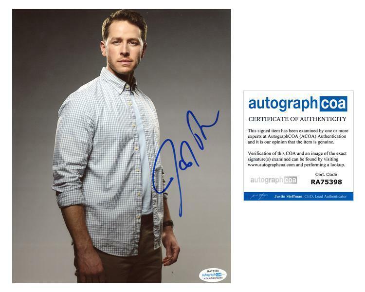 "Josh Dallas ""Manifest"" AUTOGRAPH Signed 8x10 Photo J ACOA"