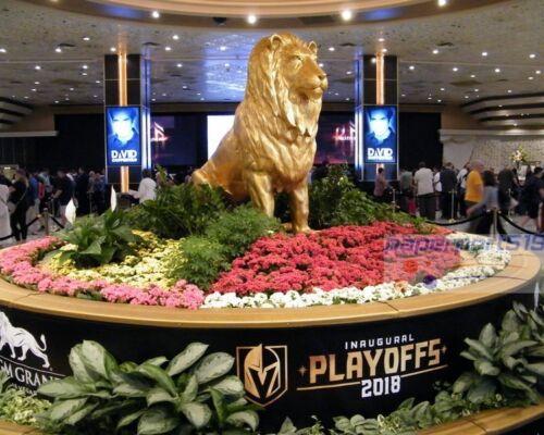 2018 VEGAS GOLDEN KNIGHTS MGM GRAND CASINO LION 8X10 PHOTO Las Vegas NHL Hockey